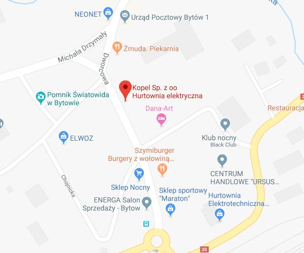 lokalizacja Bytów