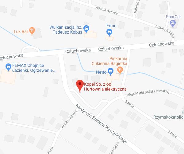 lokalizacja Chojnice