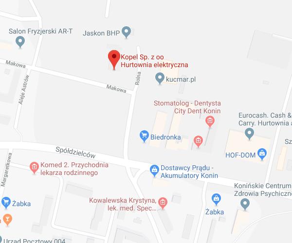 lokalizacja Konin