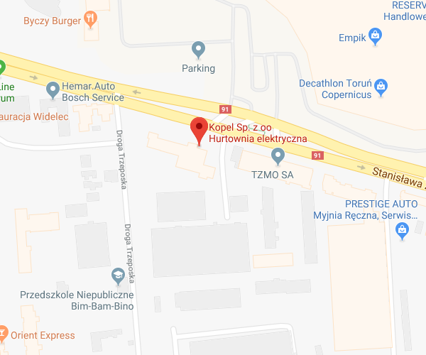 lokalizacja Toruń Żółkiewskiego