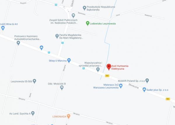 mapa Oddział Warszawa