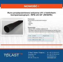 Rura przyłączeniowa sztywna UV z kielichem kompensacyjnym RPS-UV-M* (RHDPE)