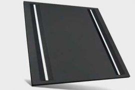 Designerski panel LED w kolorze czarnym